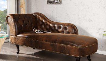 Leňoška Chesterfield Vintage hnedá